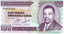 BURUNDI 2011 100 FRANCS CURRENCY UNC