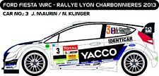 DECALS 1/43 FORD FIESTA WRC #3 - MAURIN LYON CHARBONNIÈRES 2013 - MF-ZONE D43208