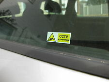 4 SMALL CCTV IN OPERATION STICKERS 50mmx 20mm internal glass versions