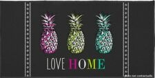Tapis rectangle 57x115 cm imprimé Love ananas