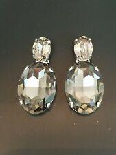 Gorgeous Statement Earrings Made With Swarovski Black Diamond Stones.