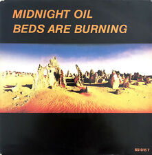 """Midnight Oil 7"""" Beds Are Burning - Europe (VG+/EX)"""