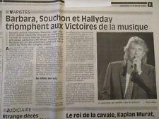 JOHNNY HALLYDAY + BARBARA + MAURANE: VICTOIRE DE LA MUSIQUE EN 1994 - 09/02/1994