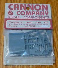 Cannon & Company #1501 Thinwall EMD Dash 2 Cab Kit Includes Laser Cut Windows
