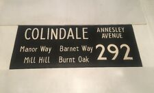 "London Linen Bus Blind Jan78 36"" 292 Colindale Annesley Avenue Manor Way Barnet"