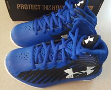 Under Armour Boys SIZE 12 K Jet Express Basketball Shoes BLUE BLACK New 1301866