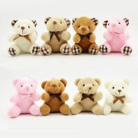 Teddy Bear Cute Plush Toys Bag Keychain Car Key Holder For Pendant Doll Kids 8CM