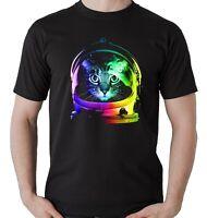 Camiseta gato astronauta humor divertida para hombre funny drôle