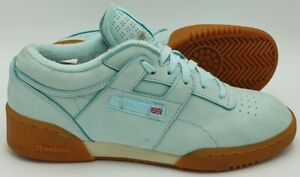 Reebok Workout Suede Trainers V69720 Teal/Gum Sole UK7/US8/EU40.5