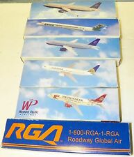 AIRPLANE COMMERCIAL PLASTIC SNAP FIT DISPLAY MODELS 1:180 SCALE LOT OF 6.