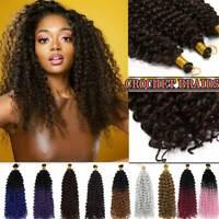"""14"""" Ombre Water Wave Braiding Hair Extension Bulk Crochet Latch Hook Braids Hair"""