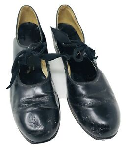Vintage 1950's Monte Carlo Girl Black Tap Dancing Shoes