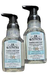 2x JR Watkins Foaming Hand Soap Ocean Breeze Plant Based Ingredients 9 fl. oz.