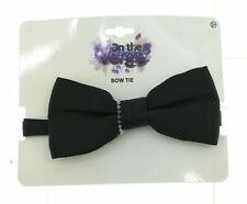 On The Verge Boys Black Adjustable Bow Tie
