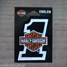 Harley Davidson Authentic Patch - HD Number 1 with B&S - Small Emblem Badge