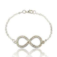 5 Diamante Rhinestone Infinity Bracelets,Wholesale Jewellery Job Lots UK SELLER