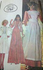 Vintage 70's 4749 Sz 10 Laura Ashley Pinafore Blouse Pattern Mrs Claus