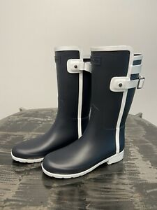 New Hunter Refined Slim Fit Contrast Short Rain Boot - Size 9