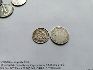 Lot De 2 Monnaies Argent Française 50 Centimes 1894A Et 20 Centimes 1867BB