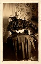 Postcard PA Honeoye Sharon RPPC Old Woman Sitting in Straw Chair 1909 M14