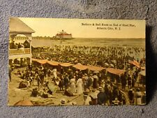 Vintage Postcard Bathers & Ball Room On End Of Steel Pier, Atlantic City, N.J.