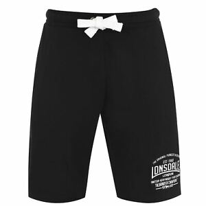 Lonsdale Mens Box Lightweight Shorts Boxing Pants Trousers Bottoms Drawstring