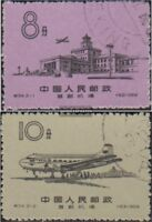 Volksrepublik China 444-445 (kompl.Ausg.) gestempelt 1959 Flughafen Peking