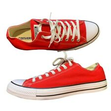 New listing Converse All Star Chuck Taylor Red Low Top Men's Size 12, Women's 14