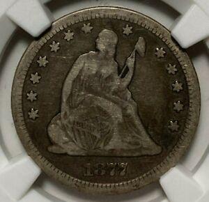 1877 CC NGC VG 10 Seated Liberty Silver US Quarter 25C