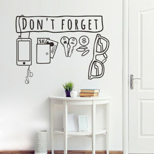 Don't Forget......wall sticker - Brand New