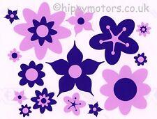Purple Flower car stickers hippy flower decals VW camper van caravan transfers