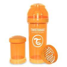 Twistshake 260ml Anti-Kolik Baby-Flasche mit Sauger S (ab Geburt) Orange
