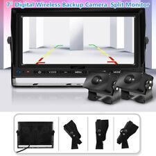 """DC12V 7"""" Digital Wireless Backup Camera Reversing 1080P Split Monitor Record DVR"""