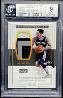 Dejounte Murray 2016-17 National Treasures Rookie Materials Gold /10 BGS 9 POP 1