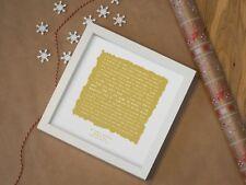 More details for elton john 'your song' - personalised framed lyrics print | anniversary gift