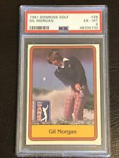 1981 Donruss Golf Gil Morgan Card #28 PSA 6 EX-MT