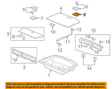 Acura HONDA OEM 10-13 ZDX Interior-Rear-Handle Cover 84524SZNA00ZA