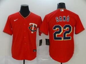 Men's Minnesota Twins #22 Miguel Sano Red Player Jersey