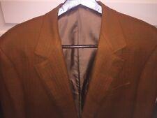 Francesco Smalto 2 Btn Sport Coat Brown Herringbone Wool  44 R US