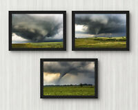 4x6in Set of 3 tornado photography prints weather pictures nature photo collage