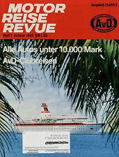 Motor Reise Revue 1 1983 Mercedes 190 BMW 3er E30 Porsche 944 Opel Rekord R4