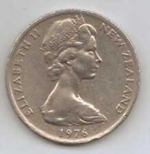 Nueva Zelanda - 20 Centavos-Cobre-Níquel Elizabeth II 1976 – 11.31 G – Ø 28.58 mm