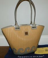 HTF!! NEW DOONEY & BOURKE LIGHT TAUPE ATLANTIC WOVEN LEATHER TOTE HANDBAG PURSE