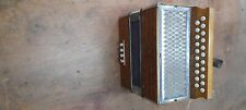 Hohner C-F Wiener Naturholz Button Box Knopfakkordeon