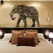 Elephant Wall Decals Indian Pattern Decal Vinyl Sticker Home Bedroom Decor MN313