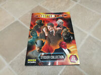 Doctor Who David Tennant merlin sticker collection album with 40 stickers