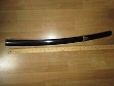 Black saya scabbard for Japanese samurai katana sword