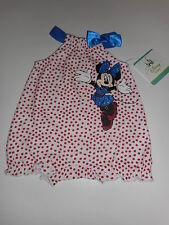 Disney Baby Minnie Mouse Newborn Girl's Romper - Polka Dot NWT