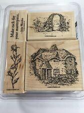 Woodland Cottage~ Stampin Up! 2006, Rose, Arbor, Make each Day, Set of 4