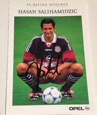 Autogrammkarte  Org. signiert Hasan Salihamidzic 1998 / 1999 FC Bayern München